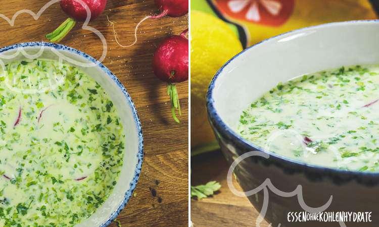 zum Rezept Kerbelsuppe mit Radieschen