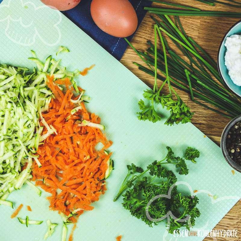 Kräuterpuffer mit Zucchini