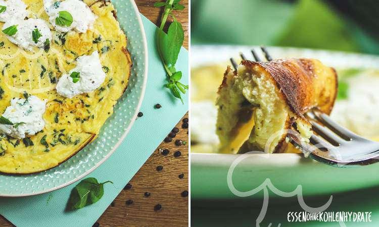 zum Rezept Ricotta-Minz-Omelette