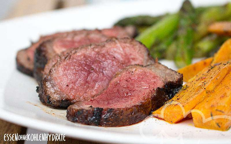 Fertiges Bison Steak