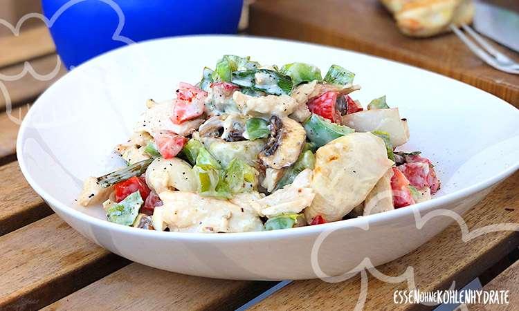 zum Rezept Hähnchen-Gemüse mit Joghurt