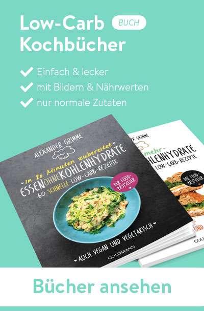 Die Kochbücher von Essen ohne Kohlenhydrate