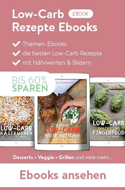 Die Rezepte-Ebooks von Essen ohne Kohlenhydrate