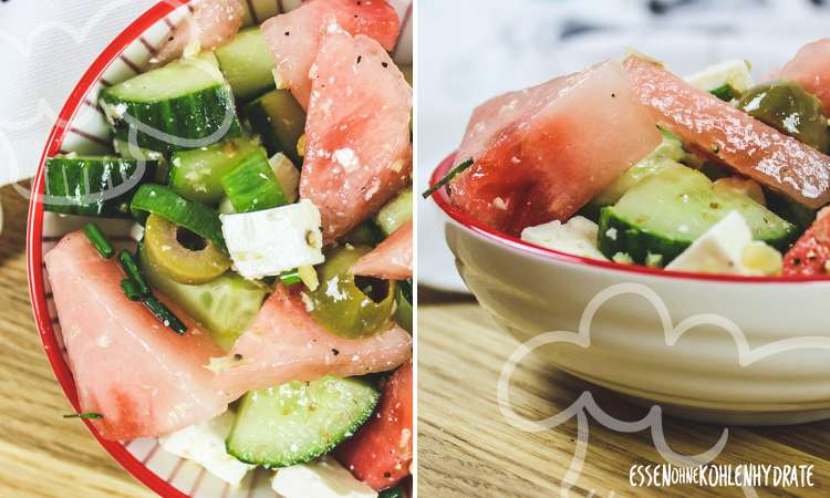 zum Rezept Salat mit Wassermelone und Feta