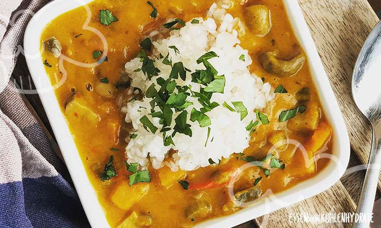 zum Rezept Low-Carb Kürbis-Curry