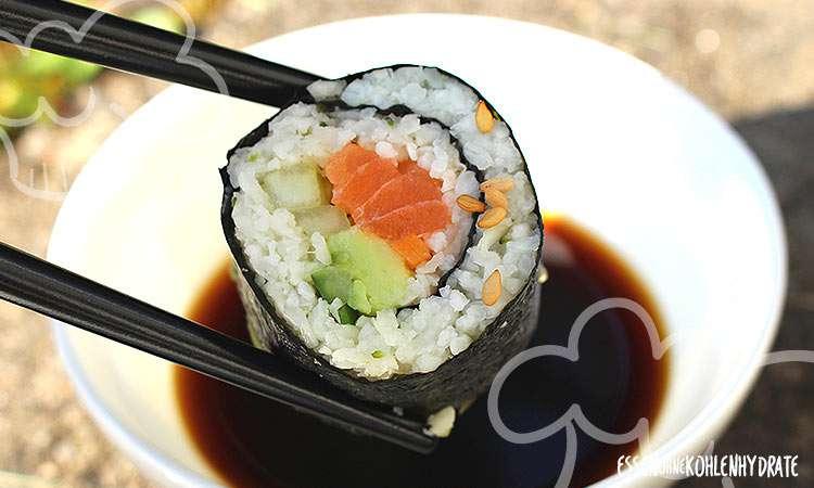 zum Rezept Low-Carb Sushi (aus Blumenkohl & Brokkoli)