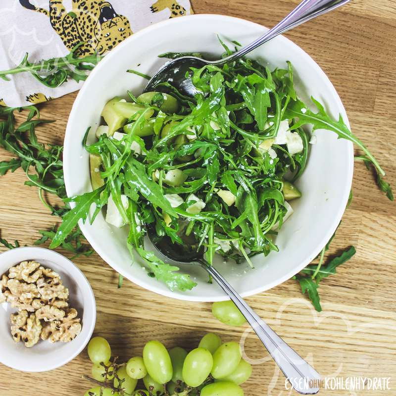 avocado rucola salat low carb rezepte essen ohne kohlenhydrate. Black Bedroom Furniture Sets. Home Design Ideas
