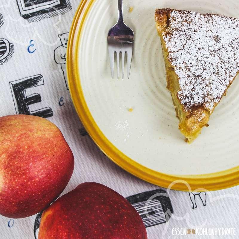 Low-Carb Apfelkuchen