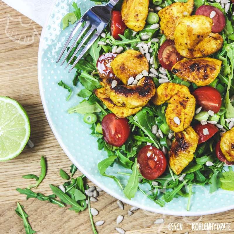 Rucola-Hähnchen-Salat