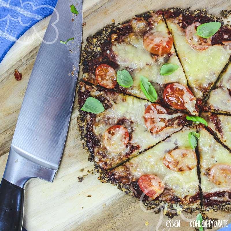 Leinsamen-Pizza