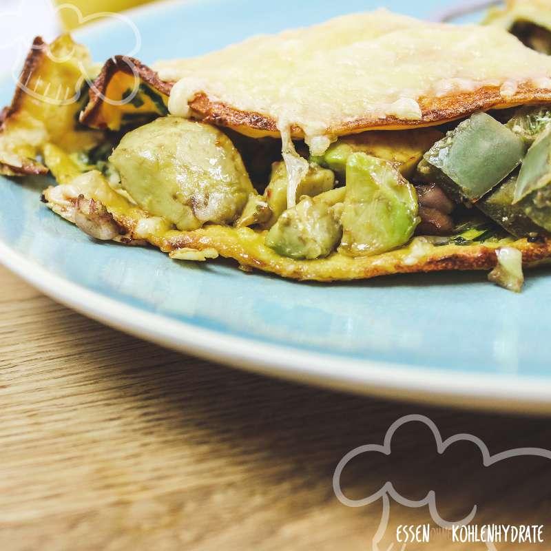 Avocado-Käse-Omelette