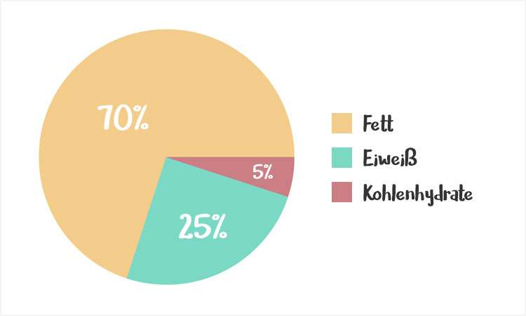 Nährwertverteilung in der ketogenen Ernährung