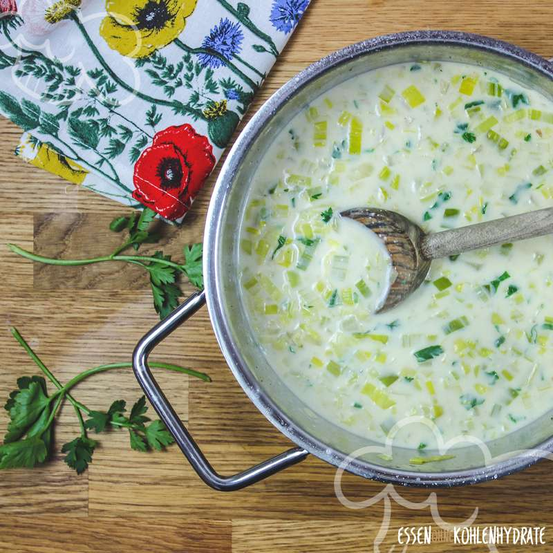Schnelle Lauch-Käse-Suppe