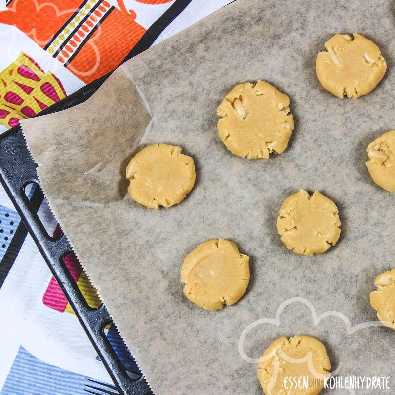 Low Carb Erdnuss-Cookies