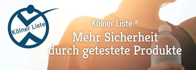 Frei von unerwünschten Inhaltsstoffen: Kölner Liste