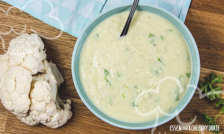zum Rezept Schnelle Blumenkohl-Käse-Suppe