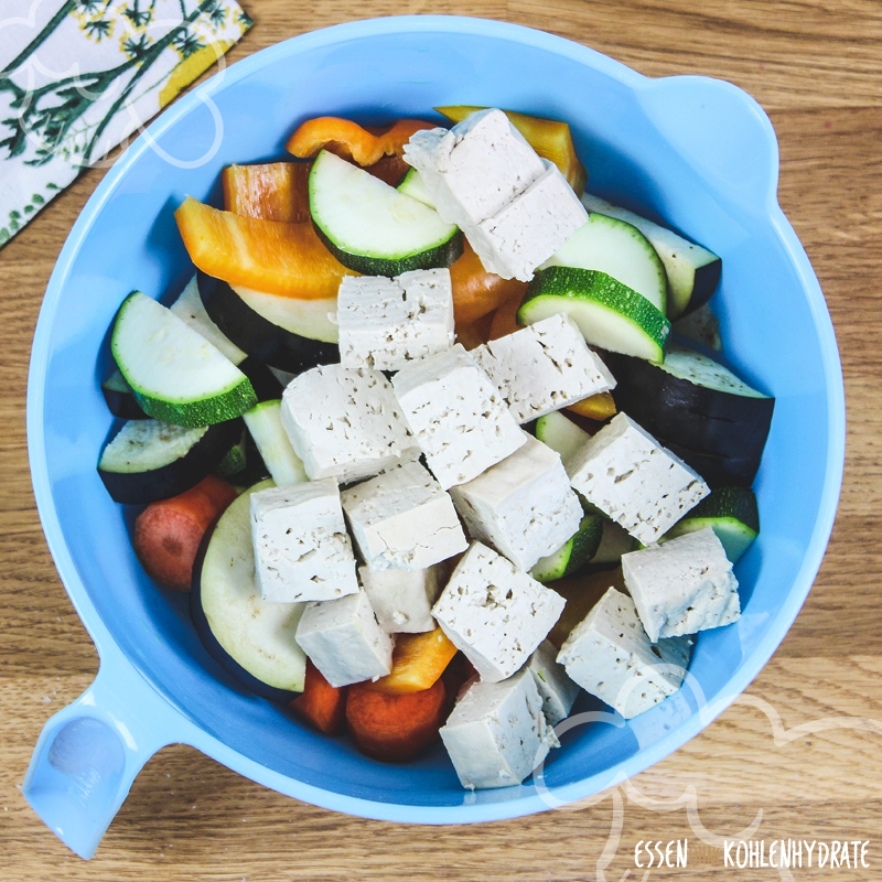 Ofengemüse mit Tofu