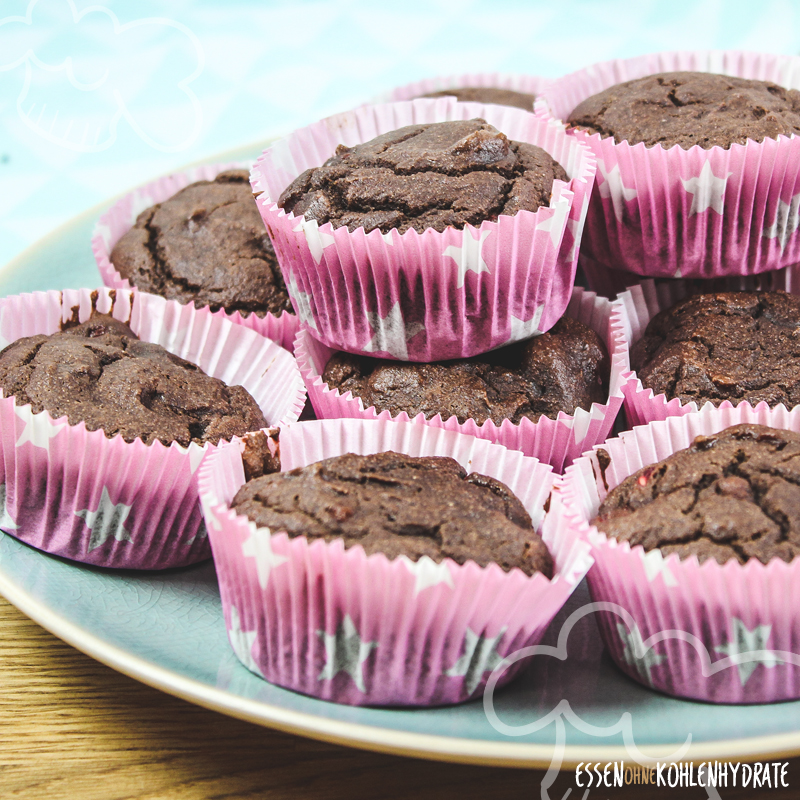 Low Carb Himbeer-Schoko-Muffins