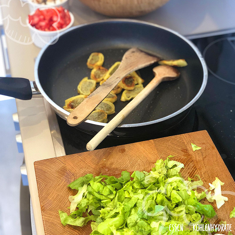 Maultaschen im Salat