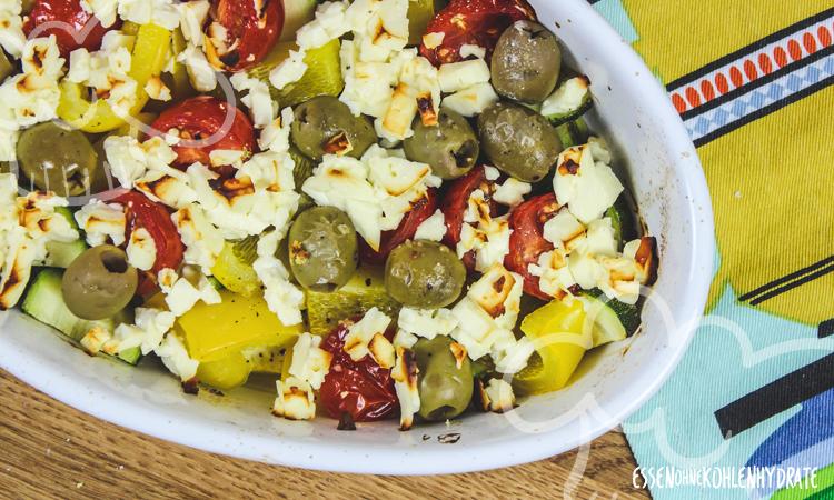 Gratinierter Feta mit Gemüse