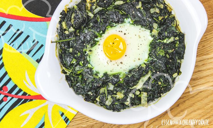 zum Rezept Spinat mit Ei