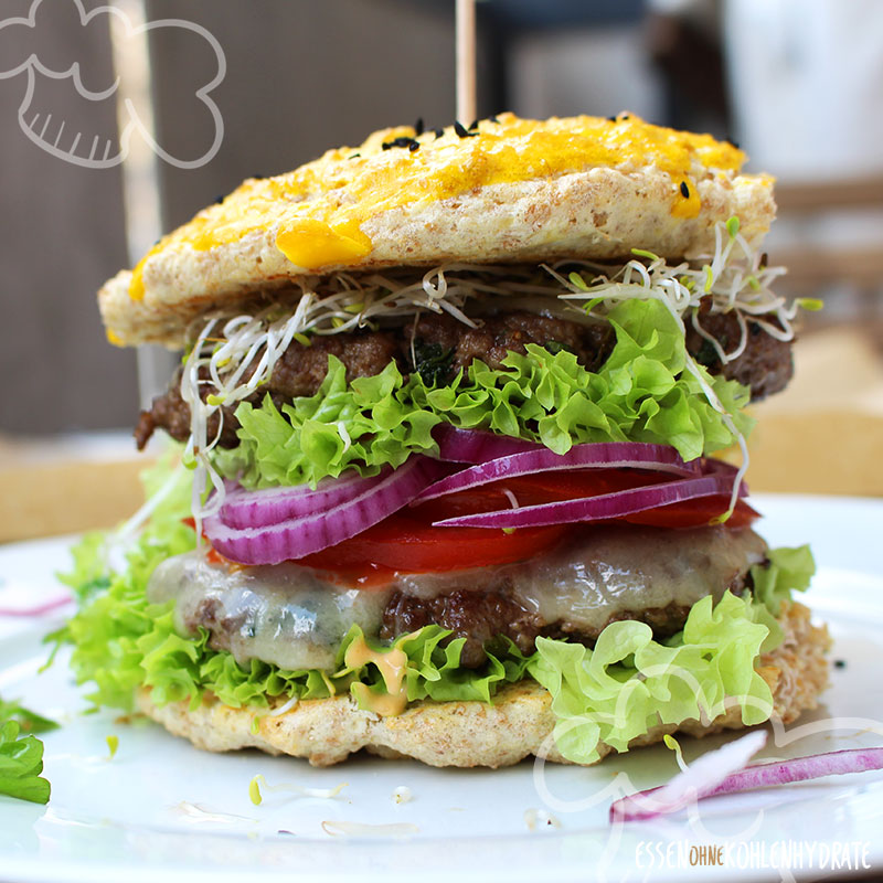 Low-Carb Burger (Cheeseburger)