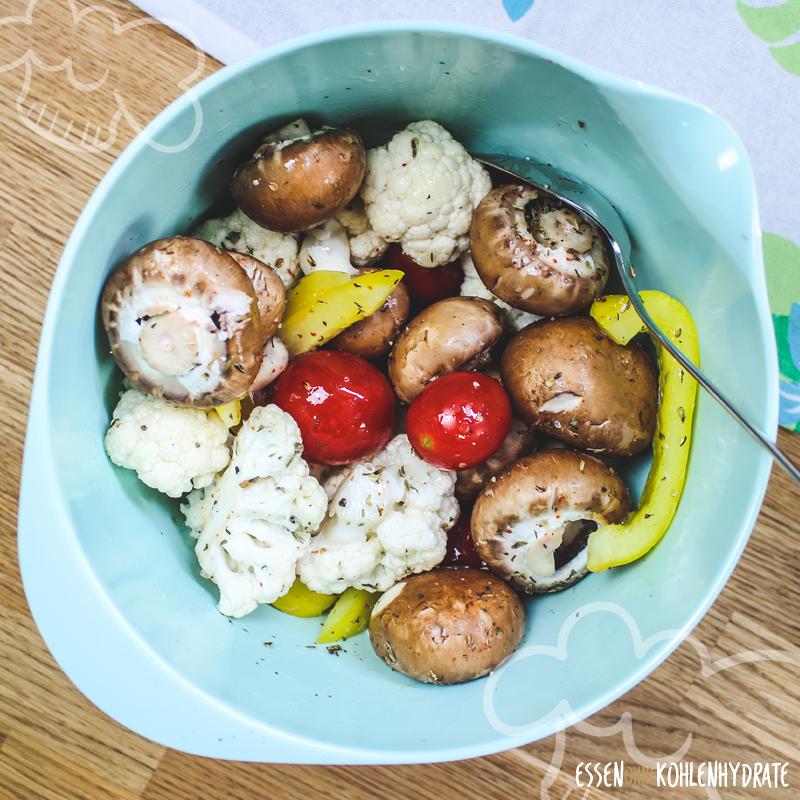 Ofenchampignons mit Gemüse