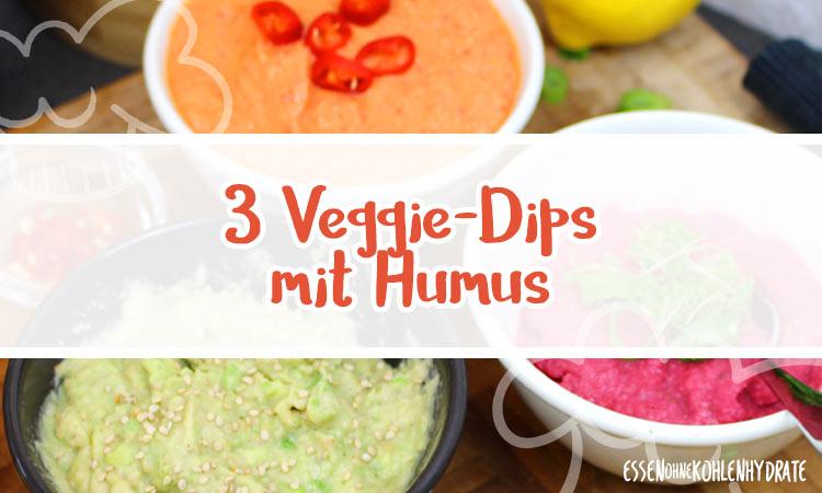 zum Rezept 3 vegetarische Humus-Dips