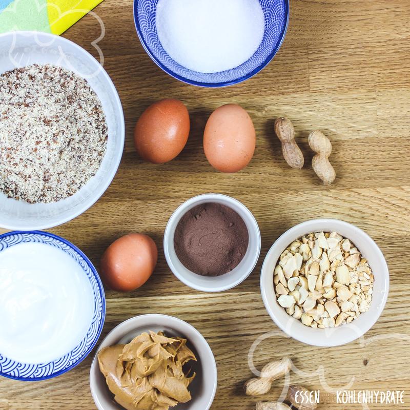 Low Carb Erdnuss-Brownies