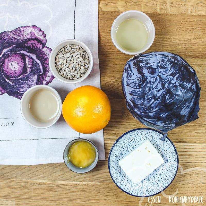 Rotkohlsalat mit Feta