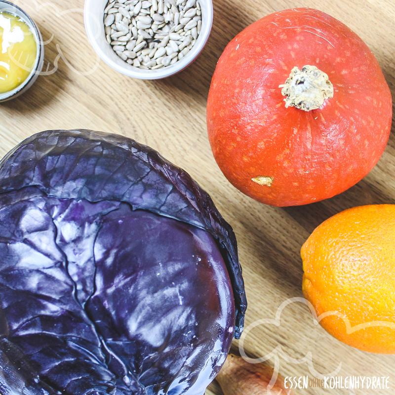 Rotkohl-Kürbis-Salat