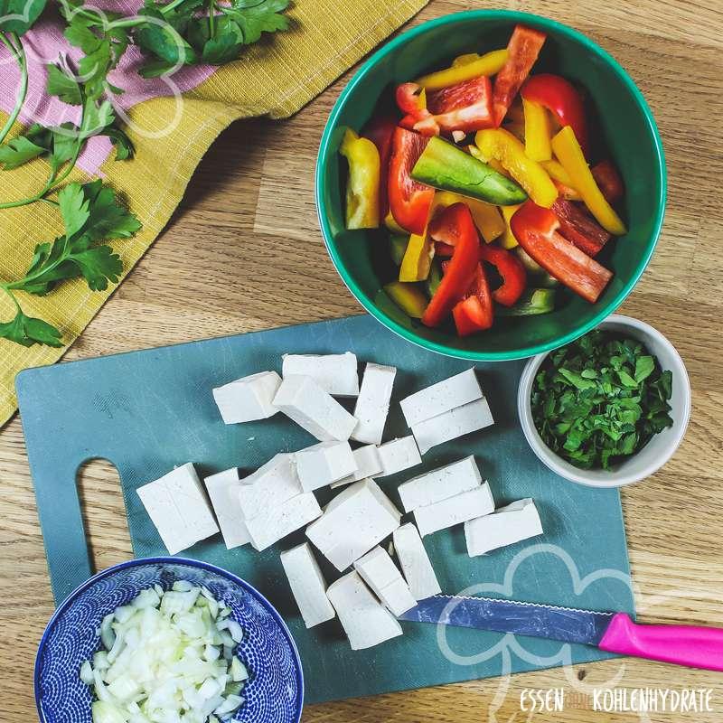 Paprikapfanne mit Tofu