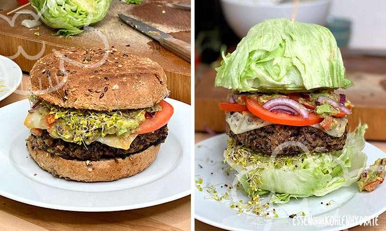 zum Rezept Vegetarischer Burger aus schwarzen Bohnen