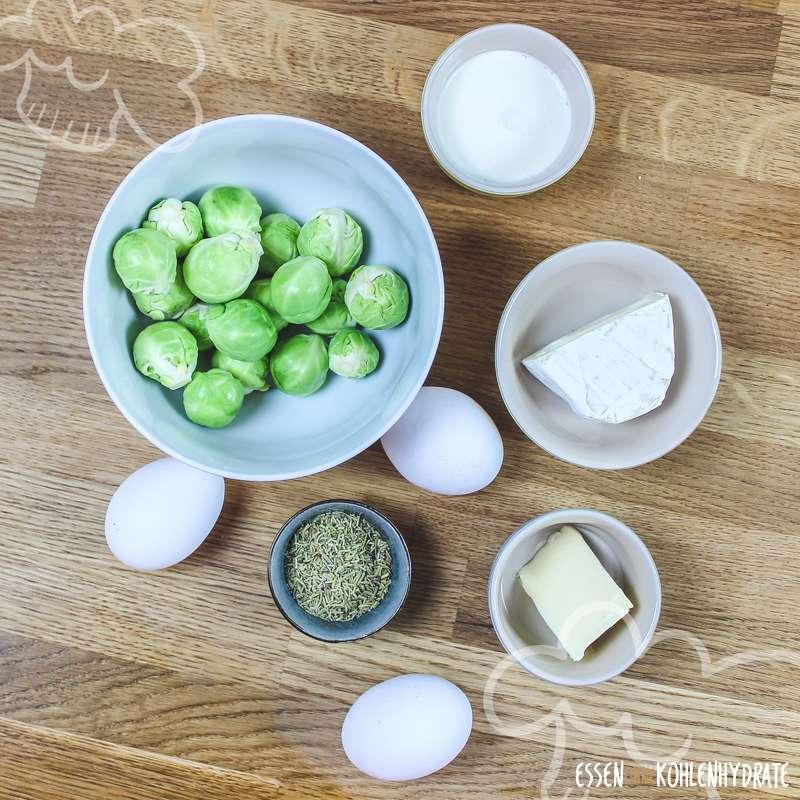 Rosenkohl-Camembert-Omelette
