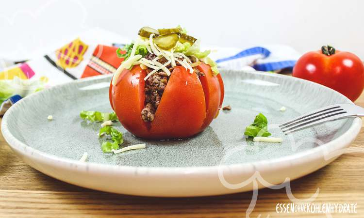 Cheeseburger-Tomate