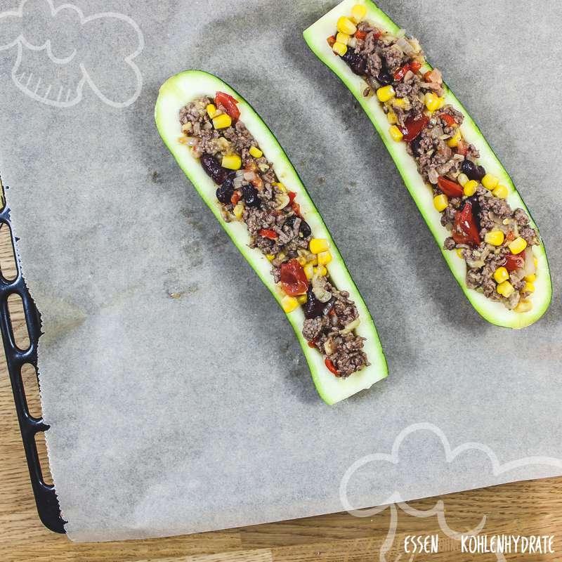 Burrito-Zucchiniboote