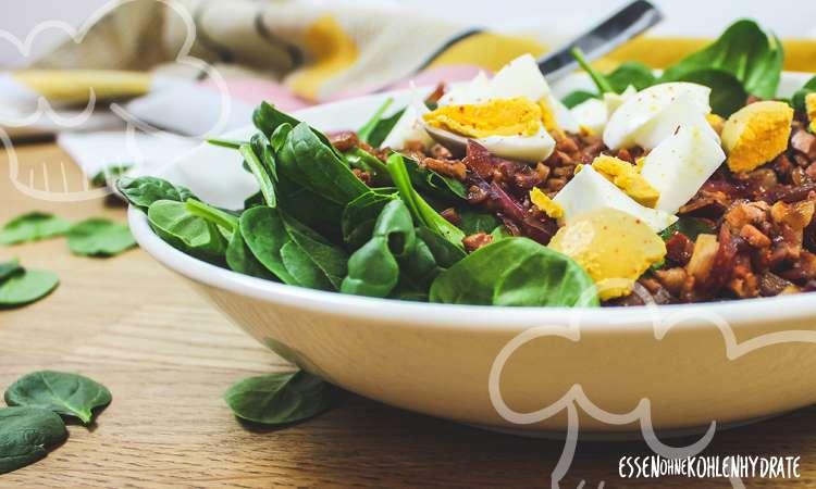 zum Rezept Spinatsalat mit Speckdressing