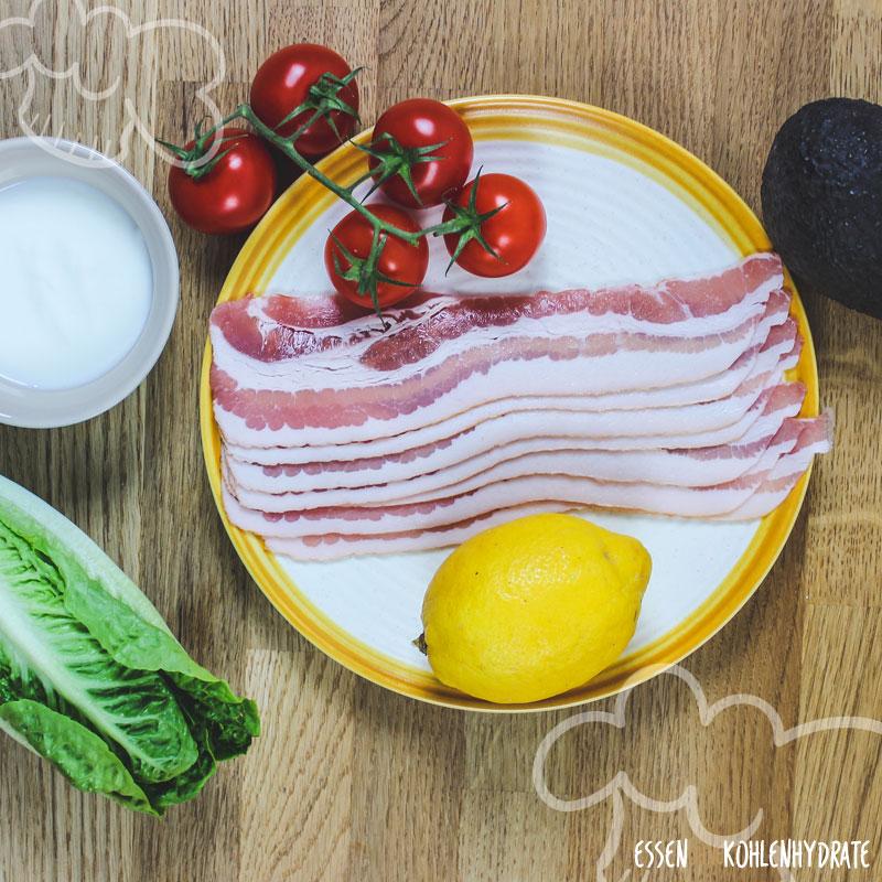 Speckkörbchen mit Salat