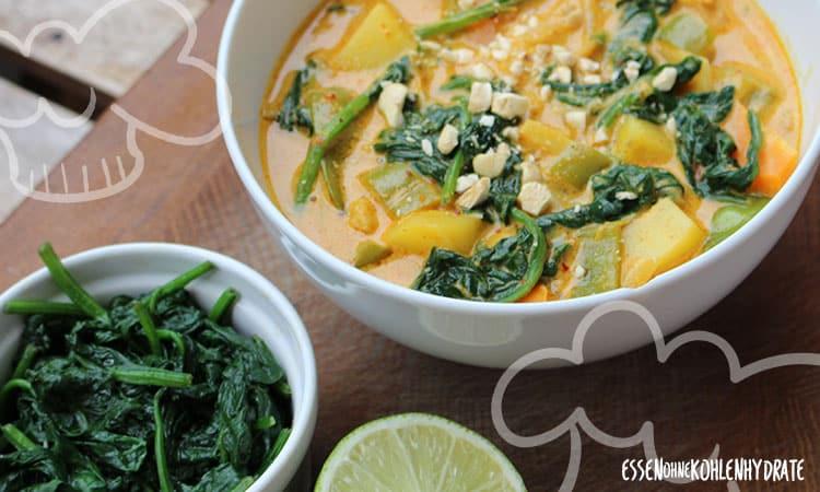 Vegetarisches Spinat-Curry