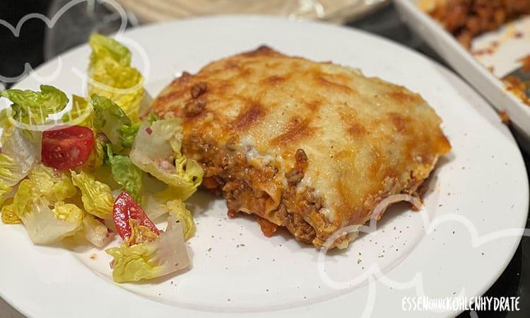 Lasagne mit Protein Wraps
